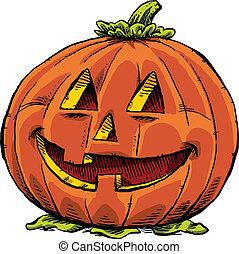 Friendly Jack O Lantern - A smiling, friendly jack o lantern...