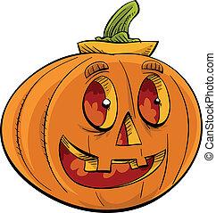 Happy Jack 'O Lantern - A smiling, friendly jack 'o lantern.