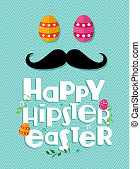 Hipster easter greeting card