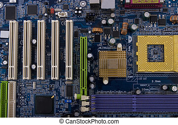 close-up circuit board