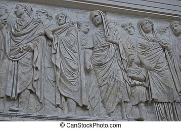 Ara Pacis Augustae - detail of the walls of the peace altar