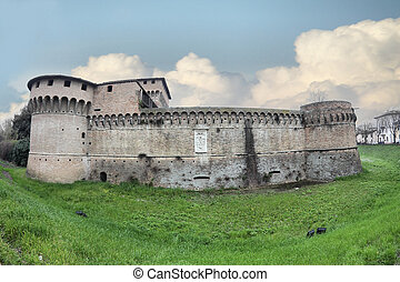 the Rocca di Ravaldino in Forli, Italy - the Rocca di...