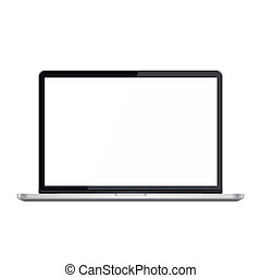 Stylish modern notebook isolated on white. Vector...