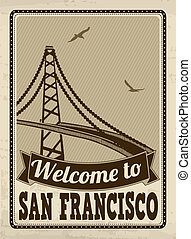 Welcome to San Francisco retro poster