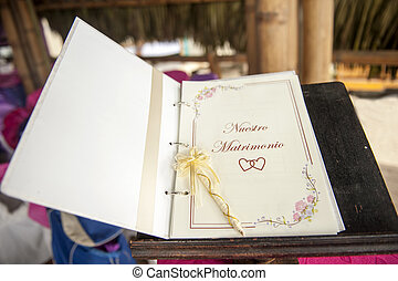 wedding book for signatures