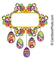 Easter eggs - Easter frame