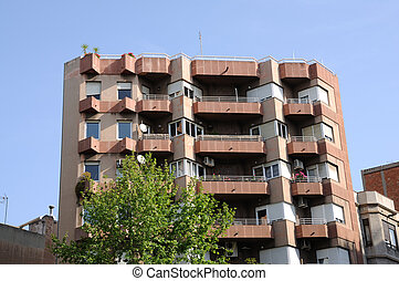 Residential building in the city of Barcelona, Spain