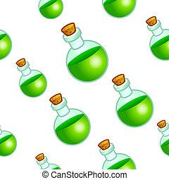 Round bottle background