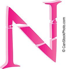 3D Alphabet Letter N