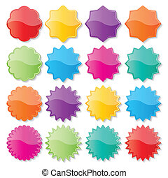 colorful seals - set of blank colorful paper seals. stickers...