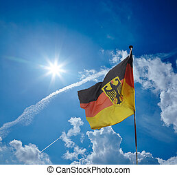 german flag and sky