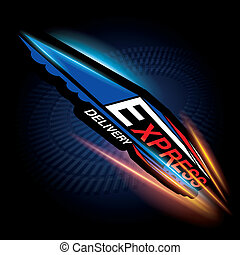 Express delivery concept vector - The abstract of Express...