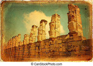 Libia - The ancient Porch of Erme, or Caryatids, at Cyrene...