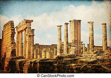 Libia - The Gymnasium greek in Cyrene, Libya...