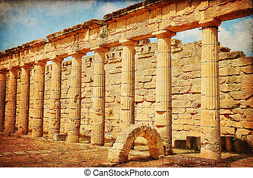 Libya - The Gymnasium greek in Cyrene, Libya...