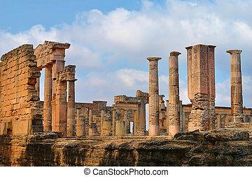 Libya - The Gymnasium greek in Cyrene, Libya...
