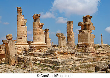 Libia - Archaeological site in Africa, the Agora of Cyrene...
