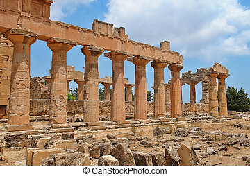 Libia - The Temple of Zeus at Cyrene, archeology, Libya...