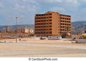 Libia - Construction site for the construction of buildings...