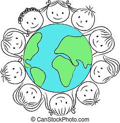 Kids around planet