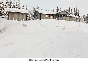 cottage in the winter - Midwinter light in the north...