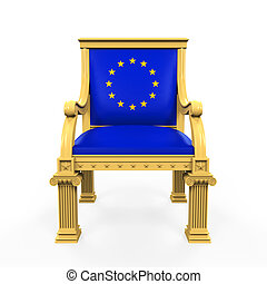 Throne Chair of European Union isolated on white background...
