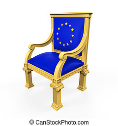 Throne Chair of European Union isolated on white background....