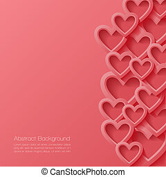 Abstract valentine background. Vector illustration.