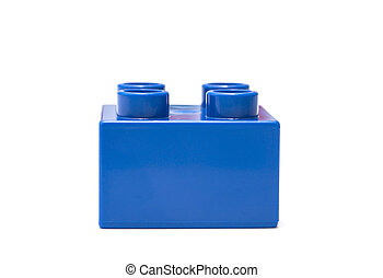 blue building block isolated on white