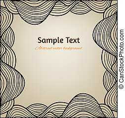 Abstract vector background with hand drawn frame