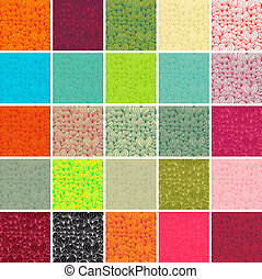 Big collection of vector seamless patterns. Doodle hearts.