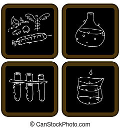 Chalkboard Biology Icons