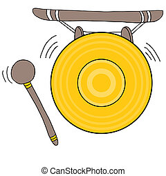 Chinese Gong - An image of a Chinese gong.