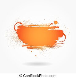 Abstract vector illustration with artistic paint banner