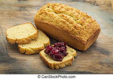 gluten free bread - freshly baked, gluten free bread made...