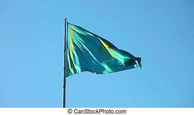 Flag of Kazakhstan - National flag of Kazakhstan Republic