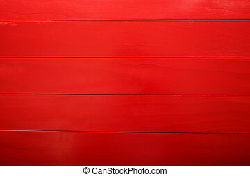 Red Wooden Boards - Blank red wooden boards aligned...