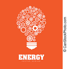 Energy design over orange background, vector illustration