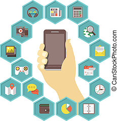 Mobile Apps Development - Conceptual illustration of a...