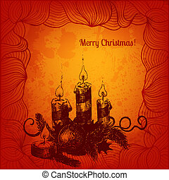 Vector Merry Christmas card for Your design
