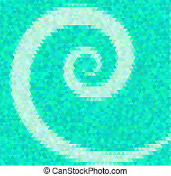 Abstract vector background Polygin style inlay Spiral...