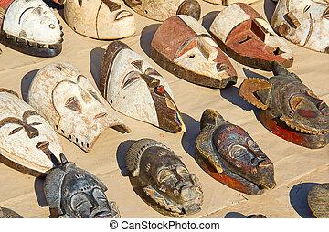 African wooden masks