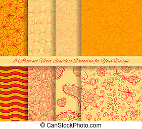 Set of vector abstract seamless patterns for Your design
