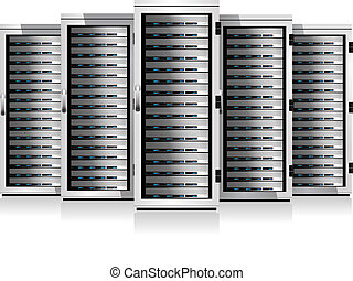 Server in Cabinets - Information Data Technology conceptual...
