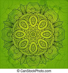 Abstract ornamental vector card