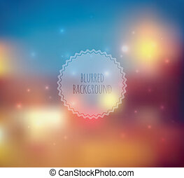 Blurred web design template - Vector illustration of Blurred...