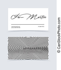 Business cards - Vector illustration (eps 10) of Business...