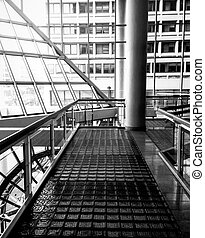 Walkway and modern architecture in The Gallery, at the Inner...