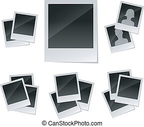 Empty photo frames set - Vector illustration of Empty photo...