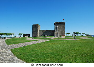 Ourém Castle (blue sky background) - historic and beautiful...